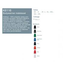 Bodywarmer K6116 Kariban