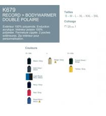 Bodywarmer polaire K679