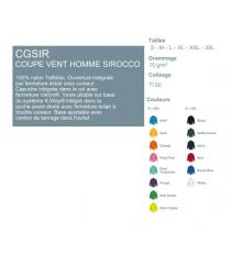 Coupe-vent CGSIR B&C