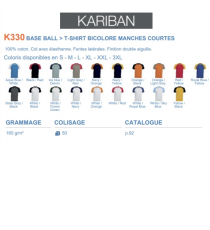 T-shirt K330 Kariban