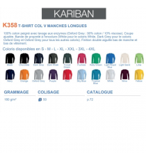 T-shirt K358 Kariban