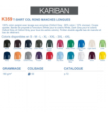 T-shirt K359 Kariban