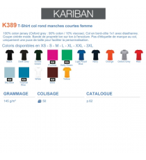 T-shirt K389 Kariban