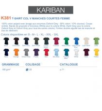 T-shirt K381 Kariban
