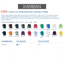 T-shirt K383 Kariban