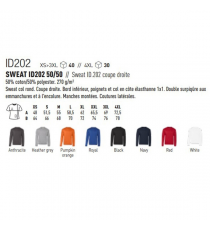 Sweat-shirt ID202 B&C