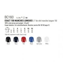 T-shirt BC160 B&C