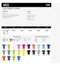 T-shirt Miss sol's