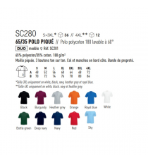 Polo SC280 Fruit of The Loom